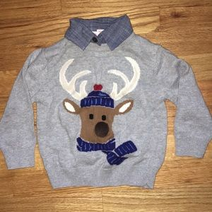 Boy's Reindeer Sweater, 2T